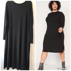 Bogo 1/2 off! Ribbed Long Sleeve Knit MIDI Dress